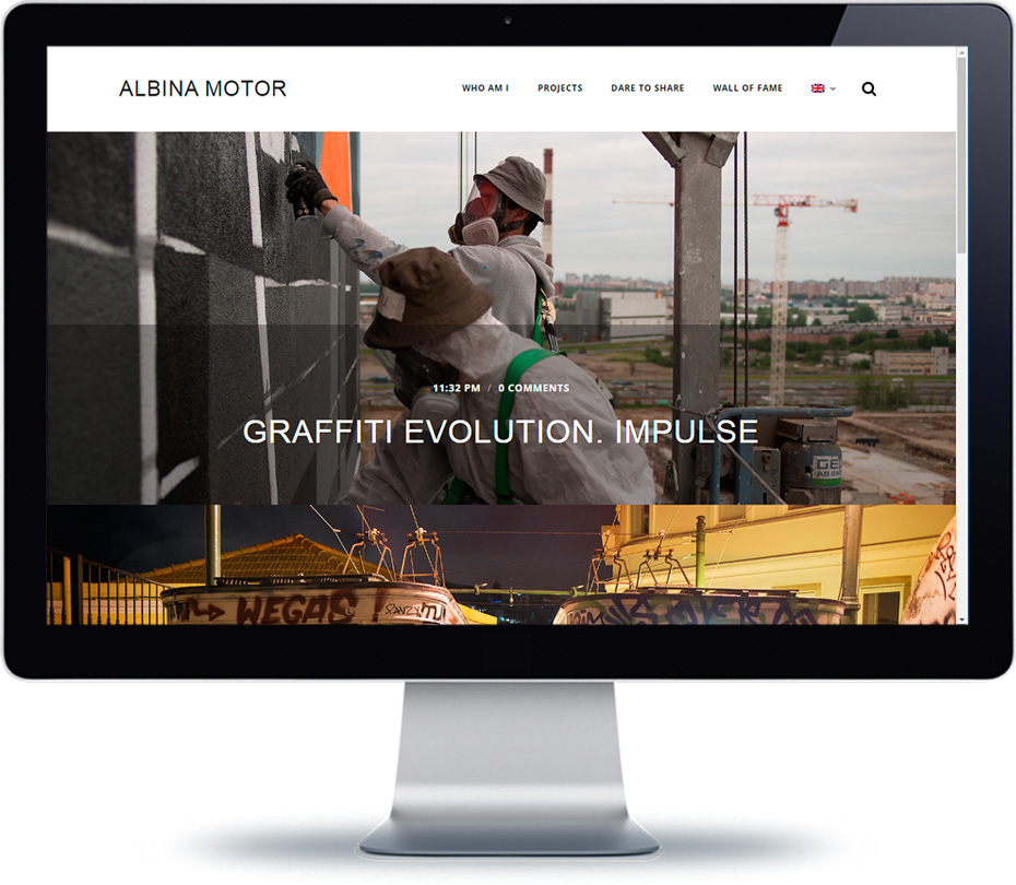 albinamotor website visual